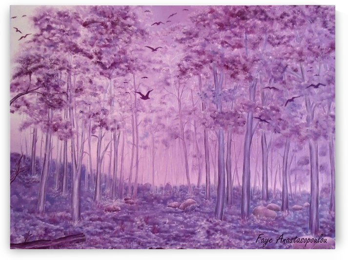 Purple Woods by Faye Anastasopoulou
