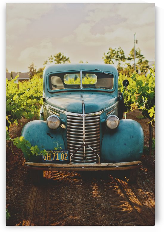 Old blue car in the Field by GorgeousWorld_Store