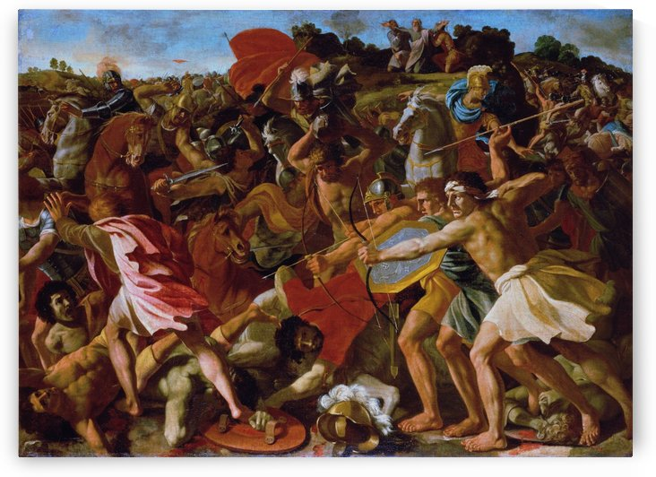 The Victory of Joshua over the Amalekites by Nicolas Poussin