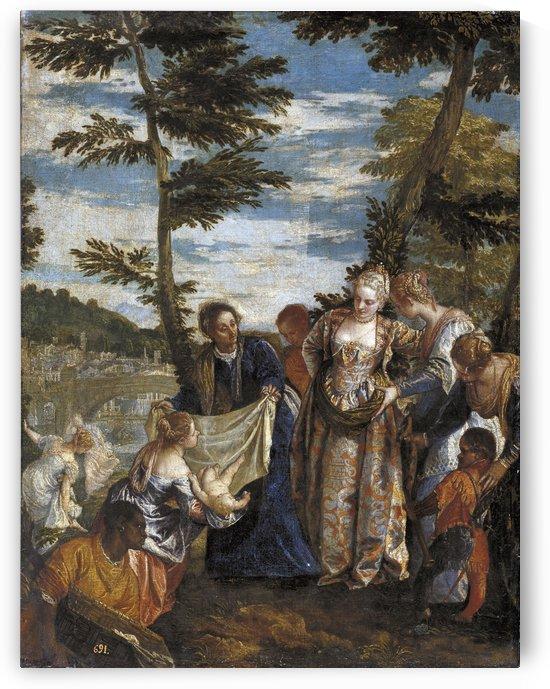 Moises salvado de las aguas by Paolo Veronese