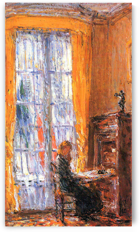 At the desk by Hassam by Hassam