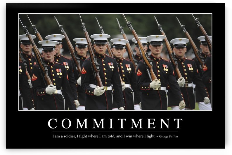 Commitment: Inspirational Quote and Motivational Poster by StocktrekImages