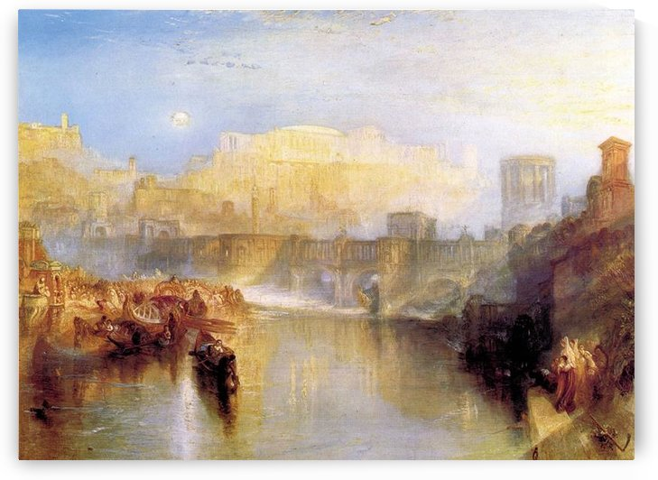 Ancient Rome; Agrippina lands with the ashes of Germanicus by Joseph Mallord Turner by Joseph Mallord Turner