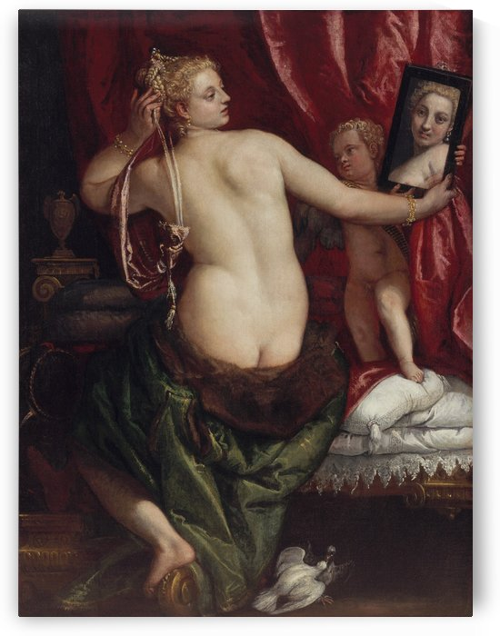 Venus with a Mirror by Paolo Veronese