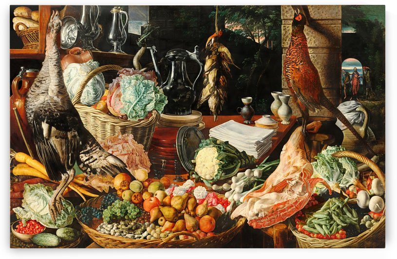 Still Life With Fruits Vegetables And Poultry_OSG by One Simple Gallery