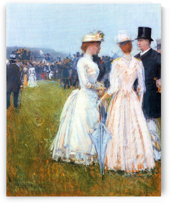 At the Grand Prix in Paris by Hassam by Hassam