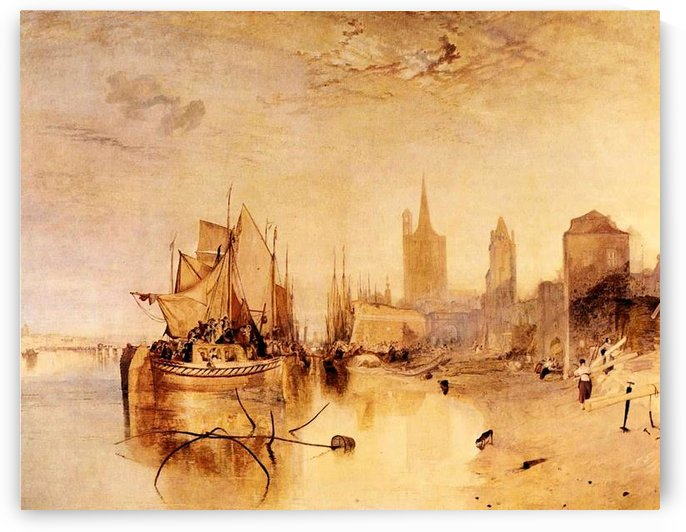 Arrival of boat, Cologne by Joseph Mallord Turner by Joseph Mallord Turner