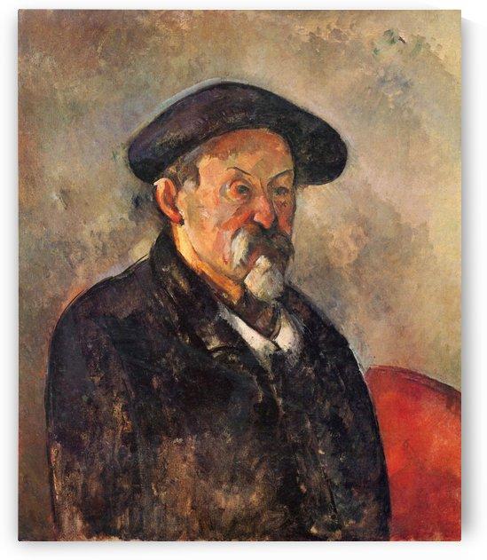 Selbstportrat mit Barett by Paul Cezanne