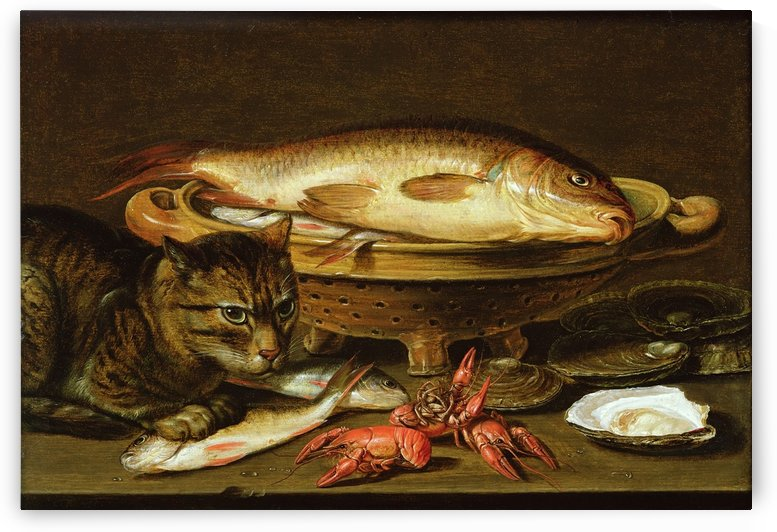 A still life With Seafood And Cat_OSG by One Simple Gallery