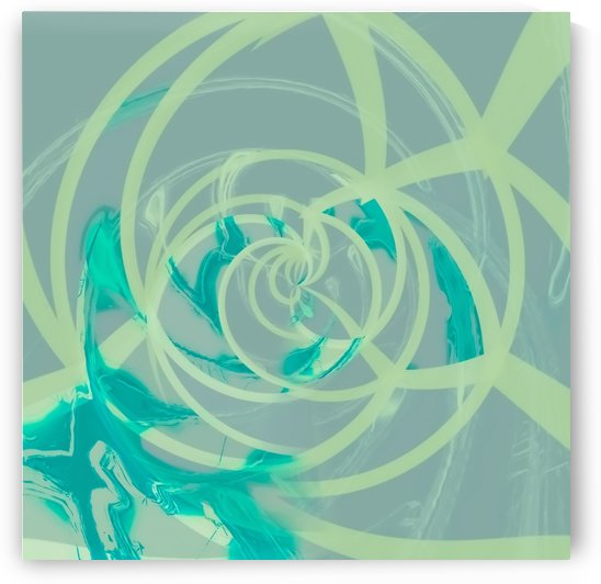 spiral line pattern painting texture abstract in blue green by TimmyLA