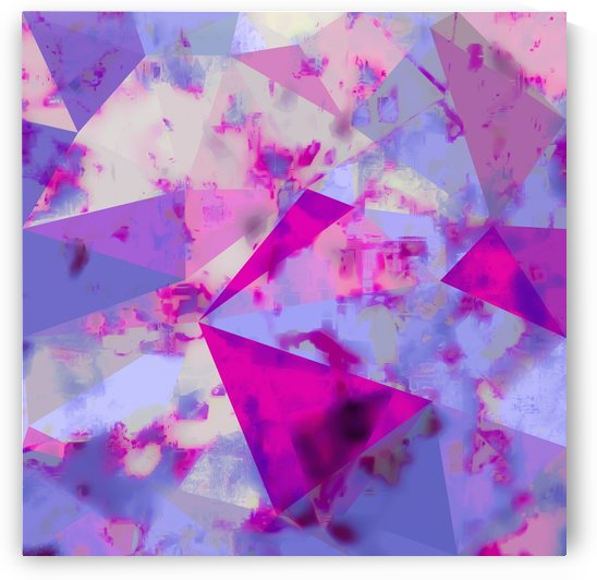 geometric triangle pattern abstract background in pink and blue by TimmyLA