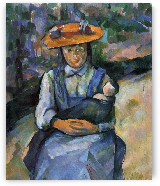 Madchen mit Puppe by Paul Cezanne
