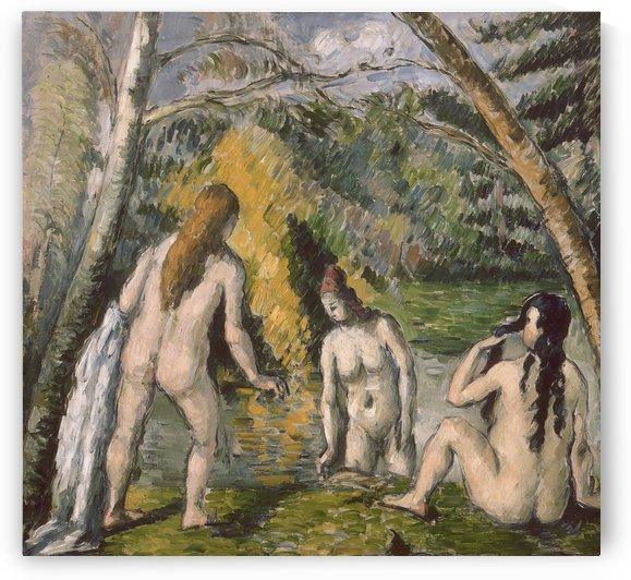 Trois baigneuses by Paul Cezanne