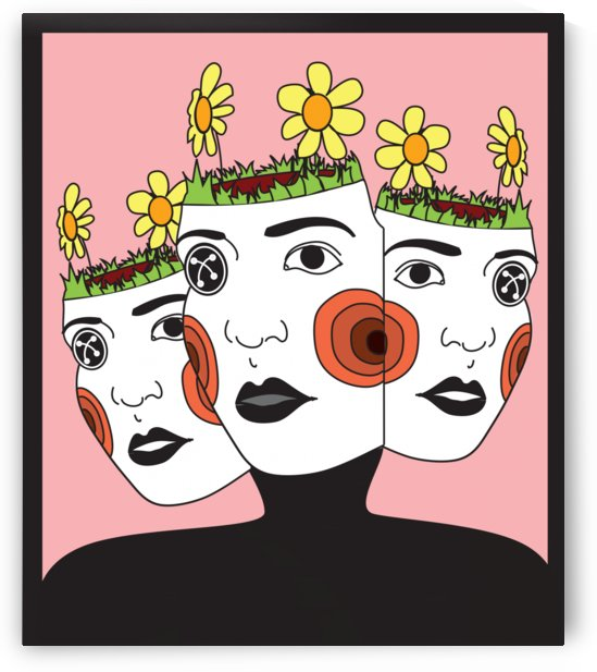 faces in pink by K  Ambing