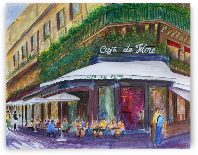 Cafe The Flore Paris by Lior Ohayon