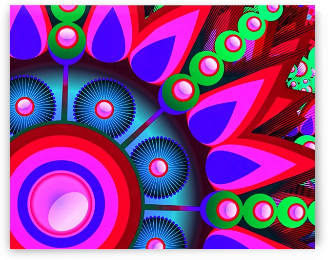 Abstract Colorful Feathers 2_OSG by One Simple Gallery