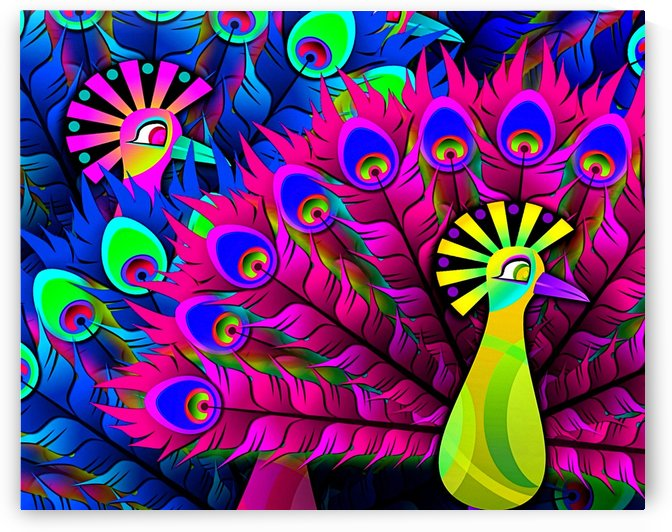 Abstract Colorful Feathers 1_OSG by One Simple Gallery