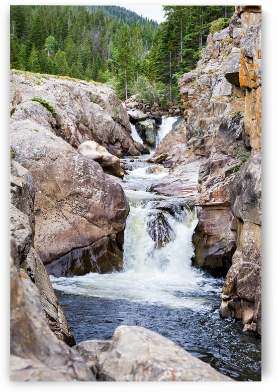 Colorado Waterfall  -  Poudre River  by 3Quarters Images