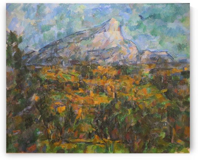 Mont Sainte Victoire von Lauves aus gesehen by Paul Cezanne