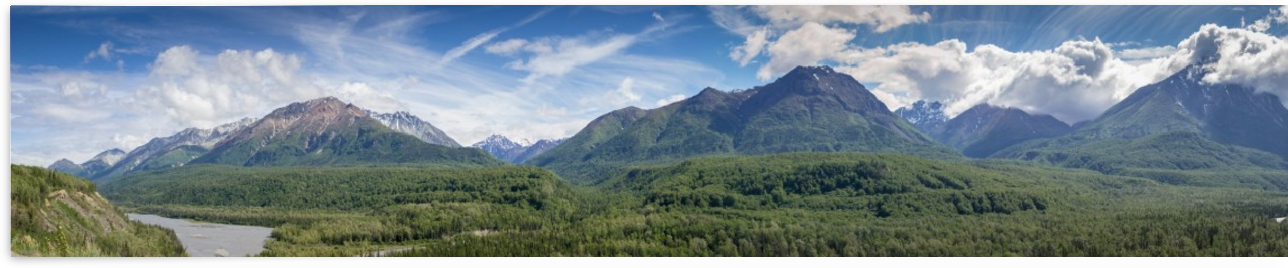 Photos Alaska Mountain Panorama by 3Quarters Images