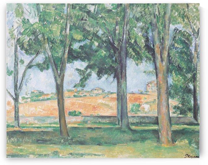 Kastanienbaume im Jas de Bouffan by Paul Cezanne