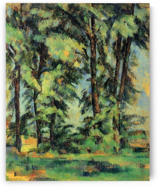 Hohe Baume im Jas de Bouffan by Paul Cezanne