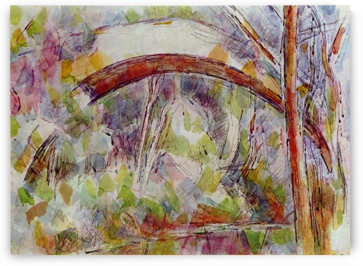 Flus bei der Brucke der drei Quellen by Paul Cezanne