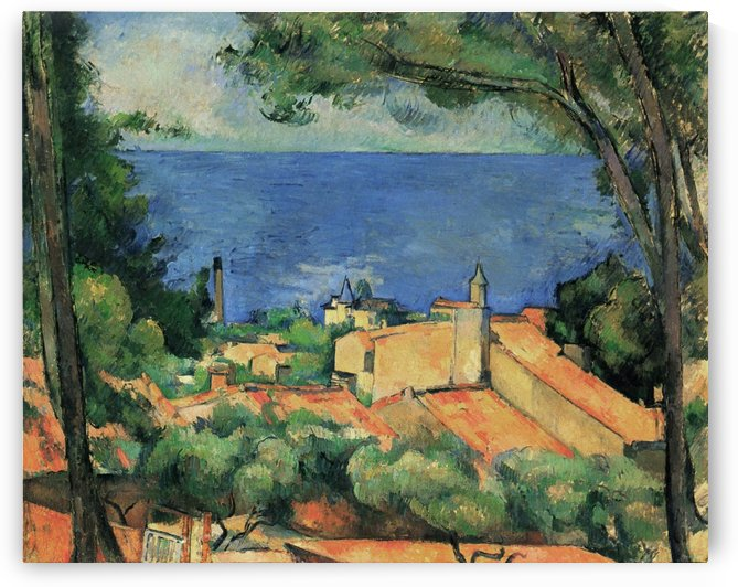 LEstaque mit roten Dachern by Paul Cezanne
