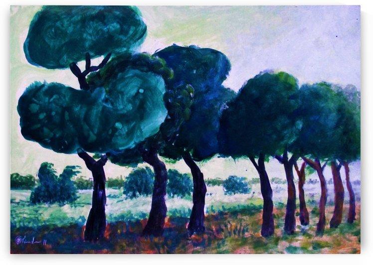 Trees Landscape by Pracha Yindee
