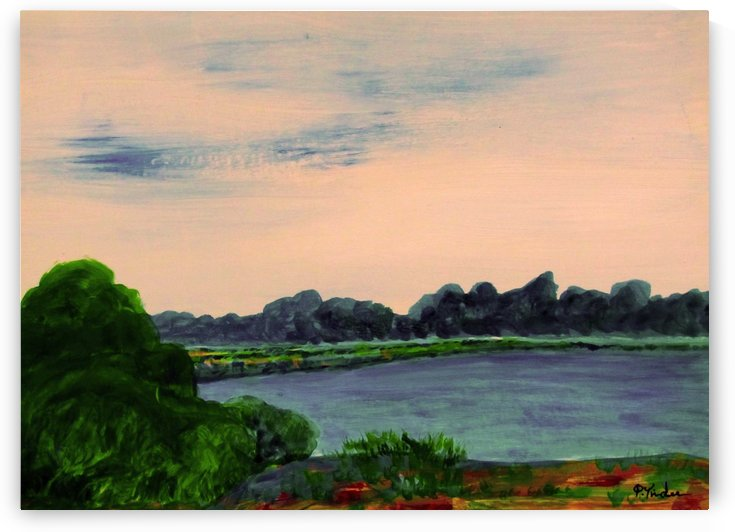 Evening Landscape by Pracha Yindee