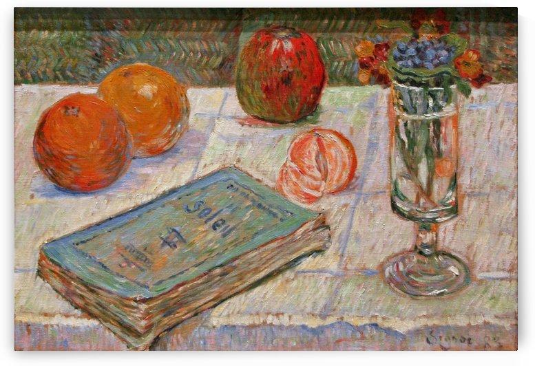 Stilleben mit Buch by Paul Signac