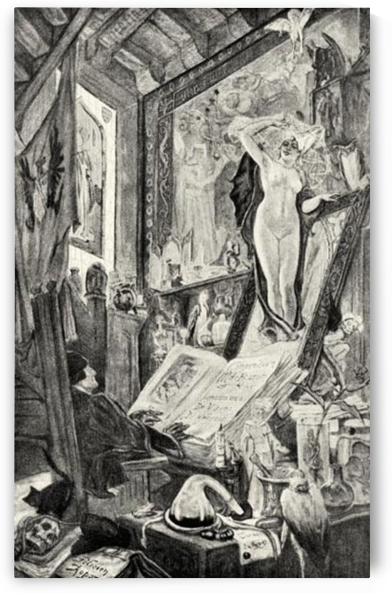 Bewitching by Felicien Rops by Felicien Rops