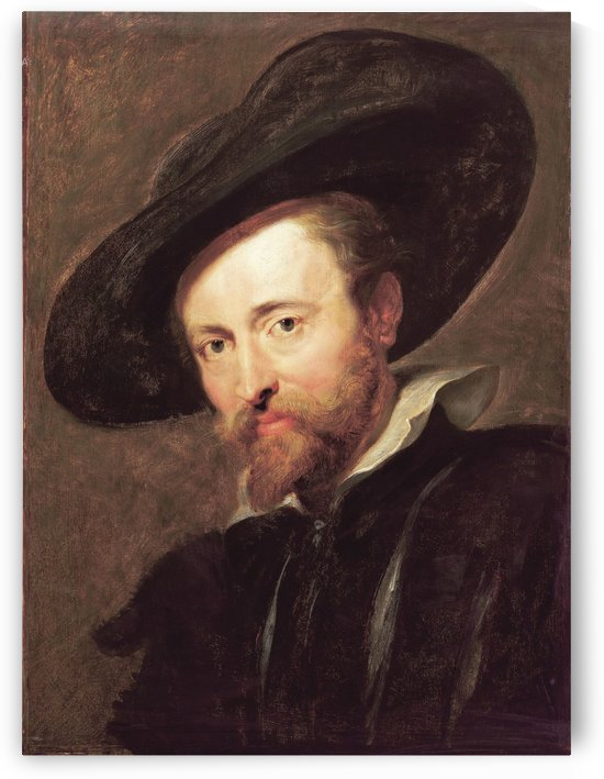 Self-portrait with big hat by Peter Paul Rubens