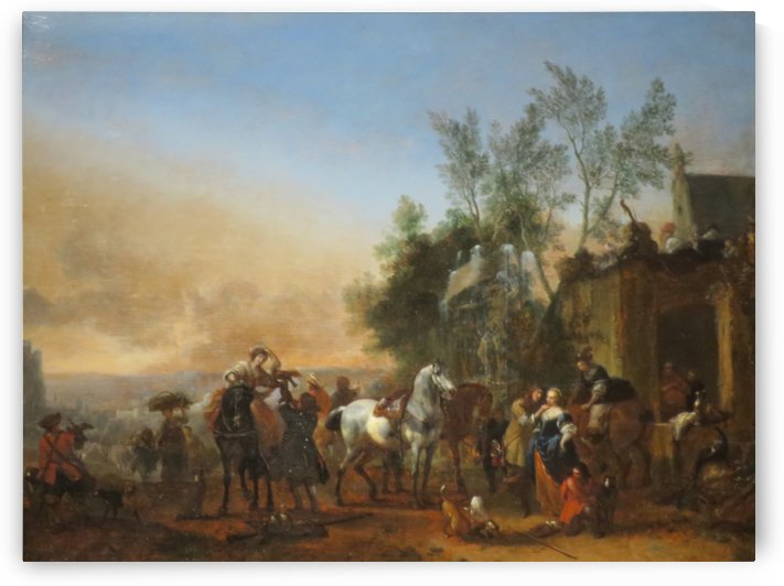 The Hunters Return by Philips Wouwermans