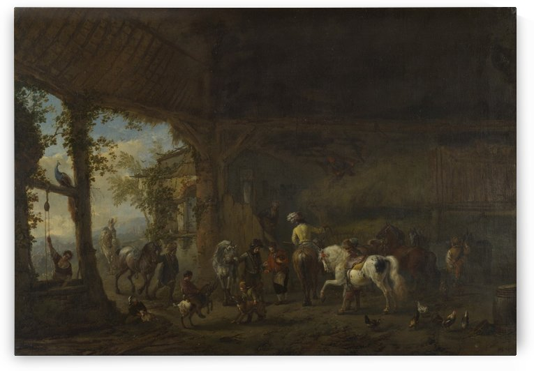 The Interior of a Stable by Philips Wouwermans