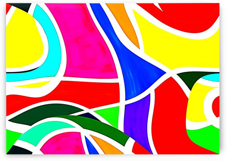 Abstract Bright Colors 1_OSG  by One Simple Gallery