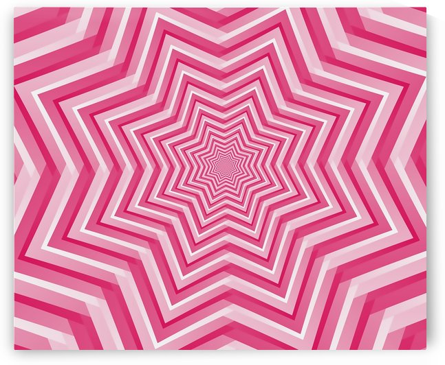 Pink Geometric Design Art by rizu_designs