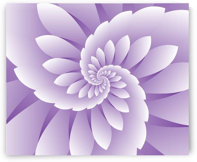 3D Purple Floral Art by rizu_designs