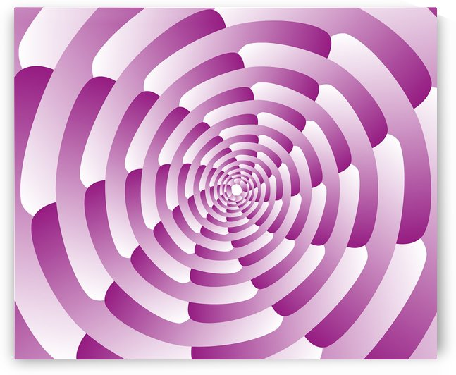 Abstract Pink Spiral Art  by rizu_designs