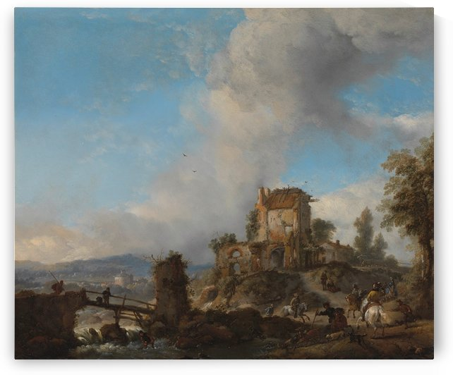 Hertenjacht Rijksmuseum by Philips Wouwermans
