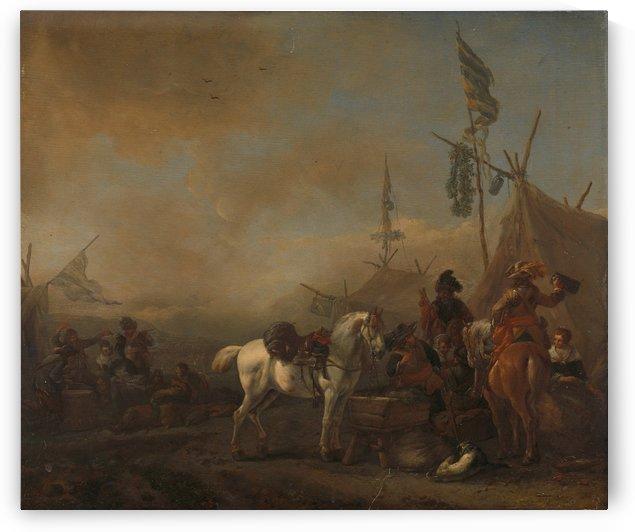 Een legerkamp Rijksmuseum by Philips Wouwermans