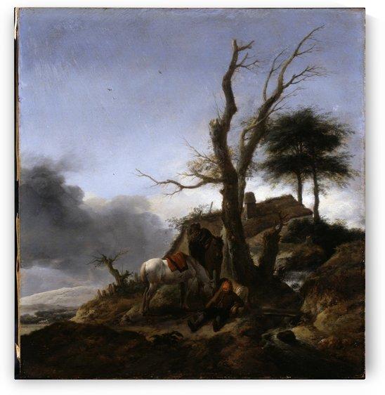 Halt of Travellers by Philips Wouwermans