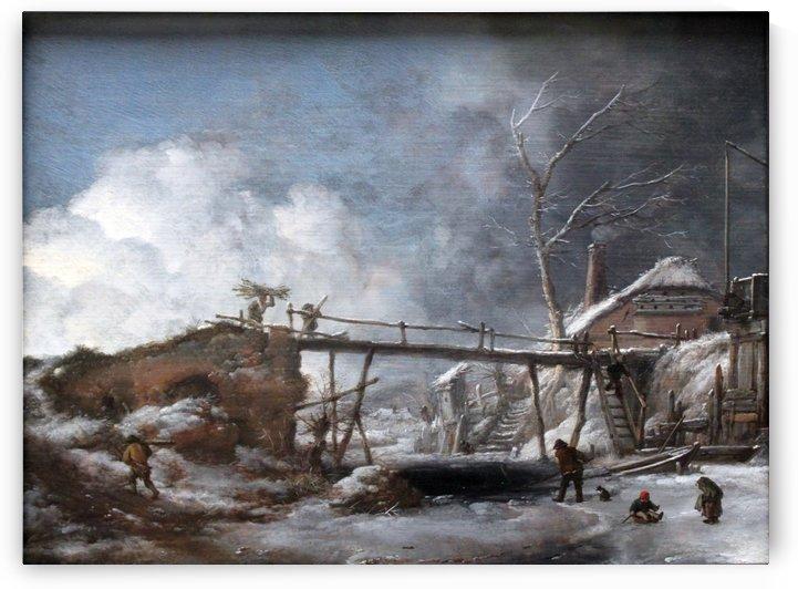 Wouwerman Winterlandschaft anagoria by Philips Wouwermans
