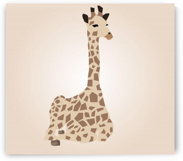 Giraffe Illustration by rizu_designs
