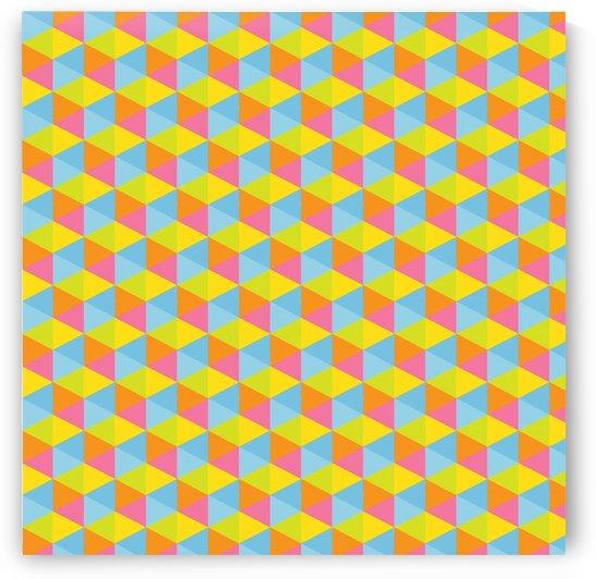 Hexagon Seamless Pattern Artwork by rizu_designs