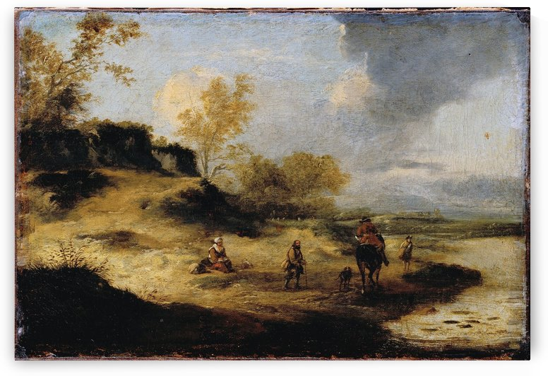 Sandhills with Figures by Philips Wouwermans