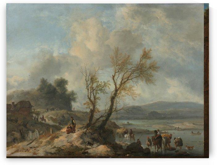 Landschap met zandweg by Philips Wouwermans