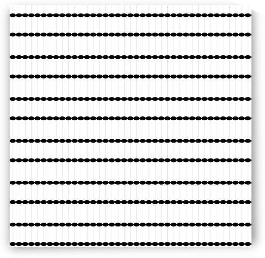 Dots Black White Seamless Pattern Artwork by rizu_designs