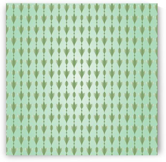 Islamic Art  Green Pattern Artwork by rizu_designs