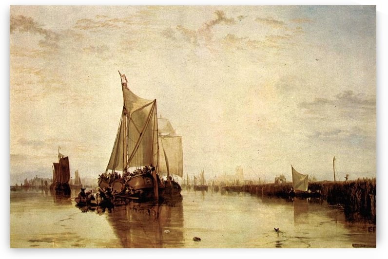 Boat in Rotterdam by Joseph Mallord Turner by Joseph Mallord Turner